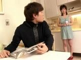 Naughty Stepmom Kaoru Hirayama Is Horny In Kitchen