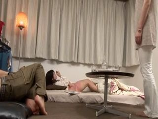 Mother Almost Busted Stepbrother and Srepsister Serizawa Sakura Fucking
