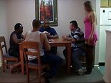 Milf Gets Punished For Interrupting Guys While Playing Poker