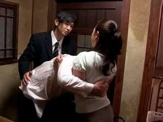 Wife Ikuina Sayuri Gets Fucked By Friend Of Her Wasted  Husband
