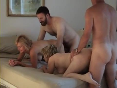 Trashing Hard Each Others Wife In Homemade Swinger Orgy