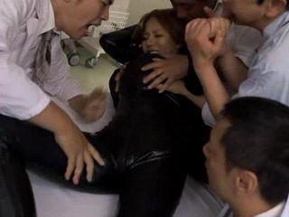Rough Gangfuck Of Beautiful Busty Undercover Agent Ruri Saijo In Hospital