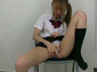 Japanese Teen Masturbates in Panties xLx