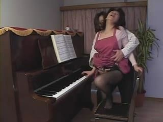 Mother Aoki Misato Gets Swooped and Fucked By Her Pianist Son