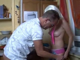 German Daddy Fucks His Naive Teen Daughter In Kitchen