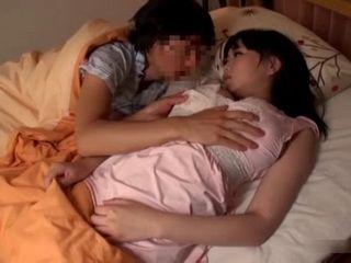 Sleeping Cousin Busty Akane Yoshinaga Awaken and Fucked By Horny Boy