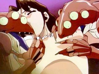 Hentai schoolgirl  groupfucked by monster frogs