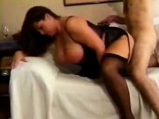 Hot Big Tits Milf In Lingerie Fucked On Sofa