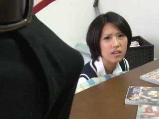 Japanese Schoolgirl Gets Horny Seeing Her Tutors Boner