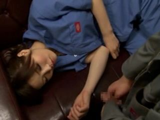 Tired Sleeping Colleague Nanako Mori Gets Abused At Work