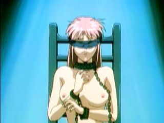 Chained hentai with blindfold  fucked by ghetto bandits