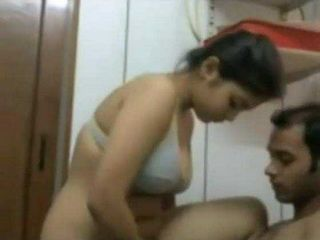 Busty Indian Teen Fucked By Her Cousin In A Bathroom