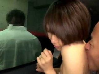 Japanese Slut Takanashi Ayumi Fucking In A Car While Her Man Is looking For Her Just Outside