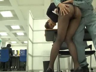 Japanese Business Lady Gets Attacked By Janitor In Her Office But She Kind Of Liked It - part 1