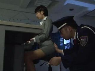 Japanese Girl Thought It Is Safe Working Late As A Secretary In Police Station
