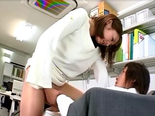 Japanese Lady Boss Gets Crazy And Force Her Employee To Fuck Her