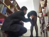 This Time He Just Couldnt Resist From Grabbing Young Japanese Ass Of His OfficeColleague