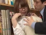 Busty Japanese Schoolgirl Gets Attacked And Fucked By Pervert Professor In A School Library