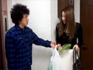Naive Japanese Girl Made A Huge Mistake By Letting Creepy Neighbor To Help Her With Her Bags And Inviting Him In