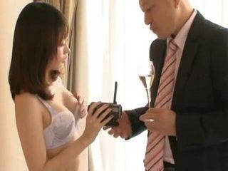 Japanese Secretary Kawana Misuzu Offers Her Boss To Make A Sex Tape On Their Business Trip