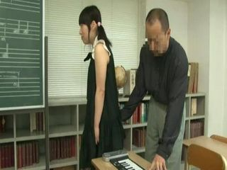 Nerdy Japanese Schoolgirl Gets Her Ass Grabbed By Her private Teacher