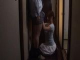 Maid Giving Head To A house Owner While His Wife Is In The House
