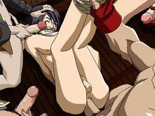 Tied Up Hentai Virgin Asshole Fucks
