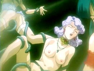Hentai Caught By Tentacles And  Fucked