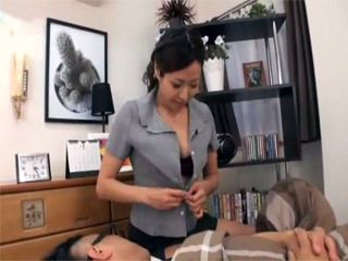 Japanese Maid Knows Exactly What To Do To Help Her Boss With A Fever