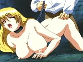 Chained Hentai Slave With Big Boobs Doggystyle Fucked