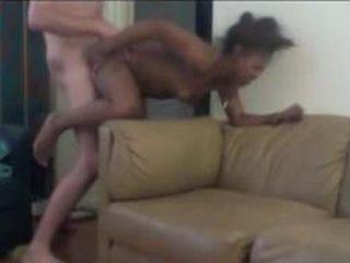 Amateur Ebony Girl Fucked Hard By A White Neighbor