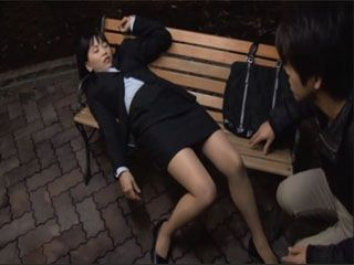 Wasted Japanese Teen Fell Asleep In A Wrong Place