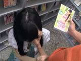 Japanese Girl Fucked In Adult Video Store During Working Hours