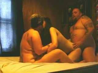Fat Guy Fucks His GF And Her Best Friend