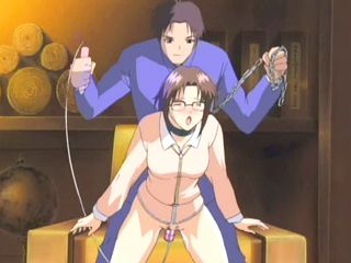Chained Hentai Dildoed Wet Pussy And Doggystyle Assfucked