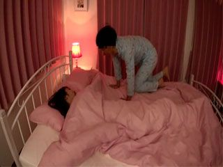 While Busty Stepsister Marina Shiina Was Sleeping Her Younger Bro Sneaked Into Her Bed