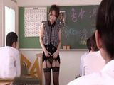 All Of The Sudden Japanese Teacher Decided To Show Her Students Her Stockings