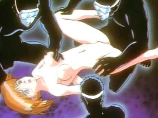 Caught Hentai  Orgy By Black Mask Men