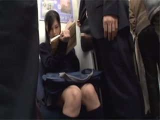 Japanese Teen Just Wanted To Read A Book But Guy Simply Pulled Out His Dick And Fucked Her In A Full Crowded Train