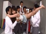 Busty Teacher Arisa Misato Gets Ravished By Her Students And Colleagues