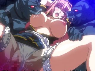 Chained Hentai Big Tits  Fucked Monsters Pig