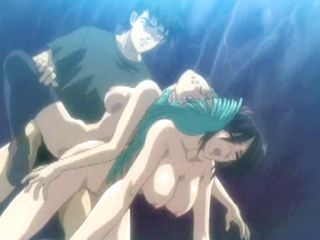Lucky Hentai Threesome Fucked In The Outdoor