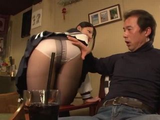 Young Waitress Ai Uehara Was To Hard To Resist For One Of The Bar Guests