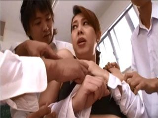 Busty Teacher Kazama Yumi Gets Blackmailed By Her Students With A Sextape So She Had To Suck Them Not To Publish It