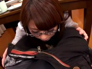Japanese Teen Sucking Her Boyfriend While Her Grandpa Is Sitting At The Table