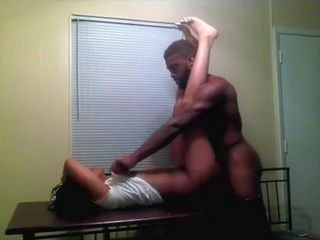 Young Black Couple Homemade Sextape