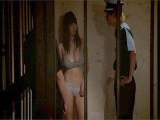 Busty Prisoner Utsunomiya Shion Gets Forced To Fuck By Two Guards