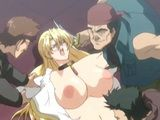 Blonde Hentai Bigtits Brutally Gangbanged By Bandits