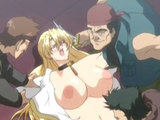 Blonde Hentai Bigtits  Gangbanged By Bandits