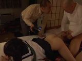 Naive Japanese Schoolgirl Yukino Kawa Made A Mistake By Leting Her Boyfriend Blindfold Her So All Of His Friends Took Tu